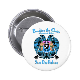 Stop Dog Fighting, American Pit Bull Terrier Dog Button