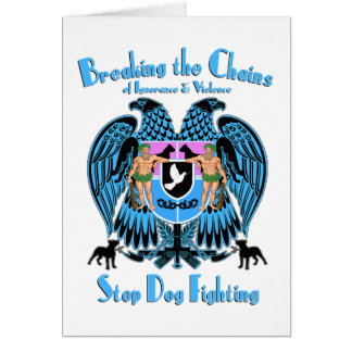 Stop Dog Fighting, American Pit Bull Terrier Dog Greeting Card
