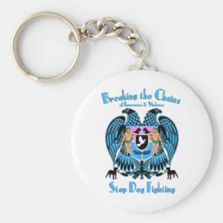 Stop Dog Fighting, American Pit Bull Terrier Dog Keychain