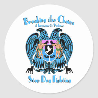Stop Dog Fighting, American Pit Bull Terrier Dog Classic Round Sticker