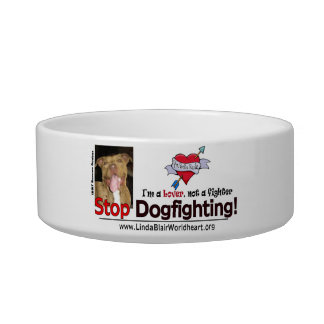 STOP DOGFIGHTING DOGGIE BOWL PET BOWLS
