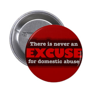Stop Domestic Abuse - There Is No Excuse 2 Inch Round Button