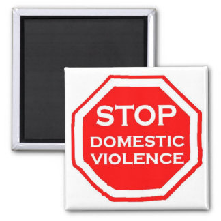 Stop Domestic Violence 2 Inch Square Magnet