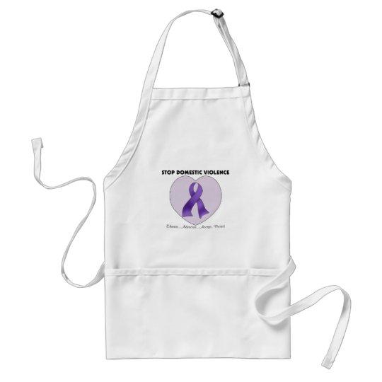 Stop Domestic Violence Adult Apron