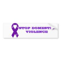 Stop Domestic Violence Bumper Sticker Car Bumper Sticker