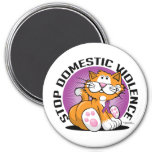 Stop Domestic Violence Cat Fridge Magnets