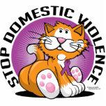Stop Domestic Violence Cat Statuette