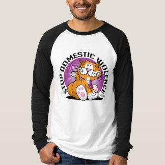 Stop Domestic Violence Cat T-Shirt