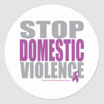 Stop Domestic Violence Classic Round Sticker
