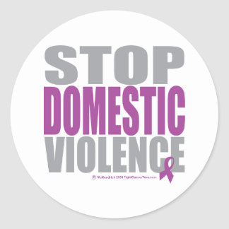 Stop Domestic Violence Classic Round Sticker