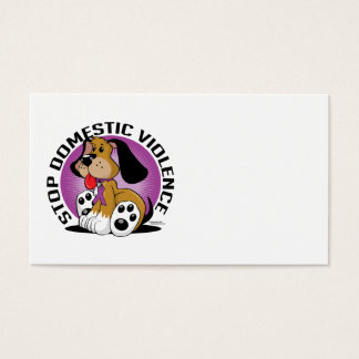Stop Domestic Violence Dog Business Card