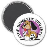 Stop Domestic Violence Dog Fridge Magnet
