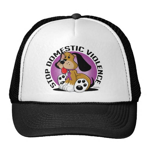 Stop Domestic Violence Dog Trucker Hat