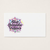 Stop Domestic Violence Lotus Business Card
