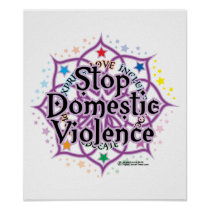 Stop Domestic Violence Lotus Poster