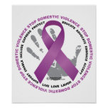Stop Domestic Violence Ribbon Poster