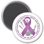 Stop Domestic Violence Ribbon Refrigerator Magnet