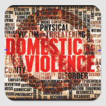 Stop Domestic Violence Square Sticker