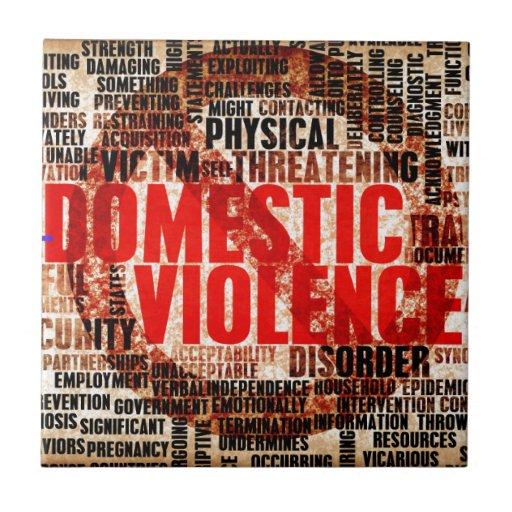 Stop Domestic Violence Ceramic Tiles
