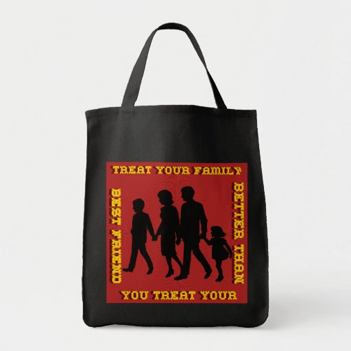 Stop Domestic Violence / Treat Your Family Bags