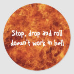Stop, drop and roll Stickers