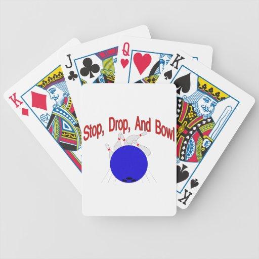 Stop Drop Bowl Bicycle Playing Cards