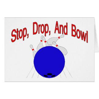 Stop Drop Bowl Card