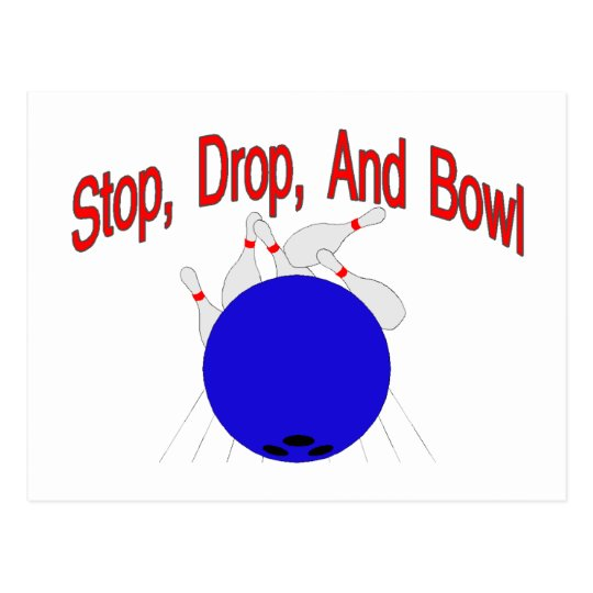 Stop Drop Bowl Postcard