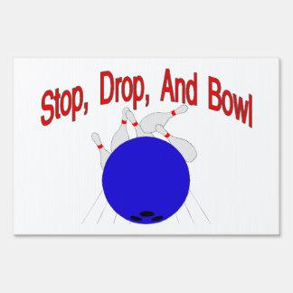 Stop Drop Bowl Yard Sign