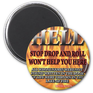Stop Drop & Roll 2 Inch Round Magnet