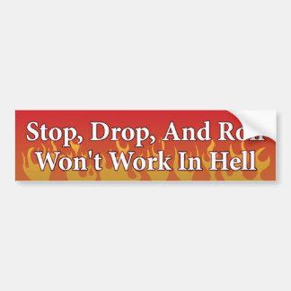 Stop, Drop, Roll Car Bumper Sticker