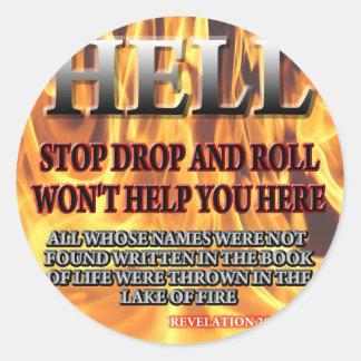 Stop Drop & Roll Sticker