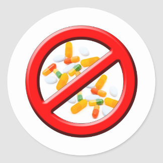 Stop Drugs! Classic Round Sticker