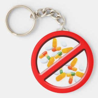 Stop Drugs! Keychain