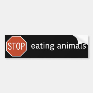 STOP-EATING-ANIMALS BUMPER STICKER