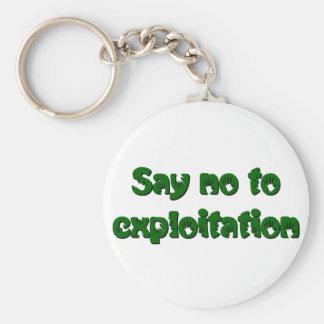 Stop exploitation keychain