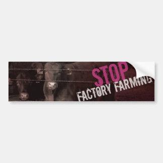Stop Factory Farming - Pink Car Bumper Sticker