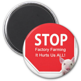 Stop Factory Farms Series 1 2 Inch Round Magnet