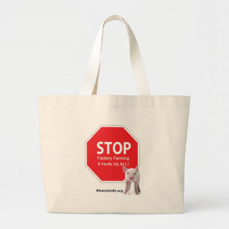 Stop Factory Farms Series 1 Jumbo Tote Bag
