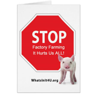 Stop Factory Farms Series 1 Card