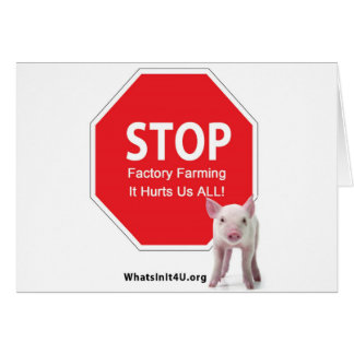Stop Factory Farms Series 1 Greeting Cards
