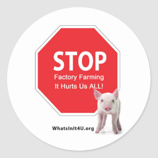 Stop Factory Farms Series 1 Classic Round Sticker