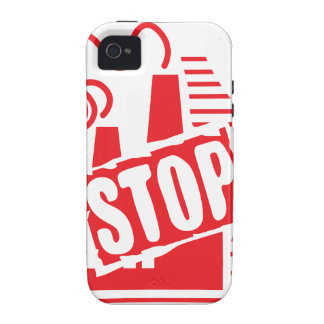 STOP FACTORY POLLUTION RED LOGO CAUSES ENVIRONMENT iPhone 4/4S COVER