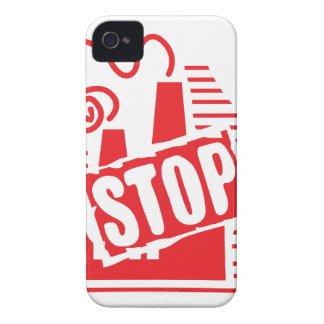 STOP FACTORY POLLUTION RED LOGO CAUSES ENVIRONMENT iPhone 4 COVER