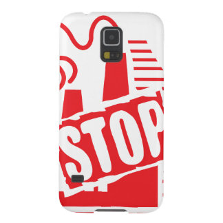 STOP FACTORY POLLUTION RED LOGO CAUSES ENVIRONMENT GALAXY S5 CASES