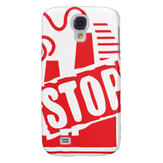 STOP FACTORY POLLUTION RED LOGO CAUSES ENVIRONMENT SAMSUNG GALAXY S4 COVER