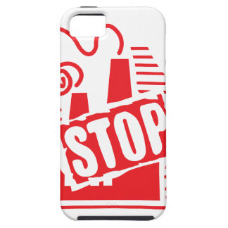 STOP FACTORY POLLUTION RED LOGO CAUSES ENVIRONMENT iPhone 5 CASES