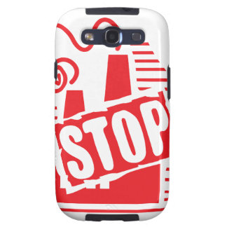 STOP FACTORY POLLUTION RED LOGO CAUSES ENVIRONMENT GALAXY SIII COVER