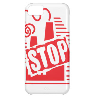STOP FACTORY POLLUTION RED LOGO CAUSES ENVIRONMENT COVER FOR iPhone 5C