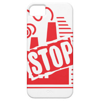 STOP FACTORY POLLUTION RED LOGO CAUSES ENVIRONMENT iPhone 5 COVER